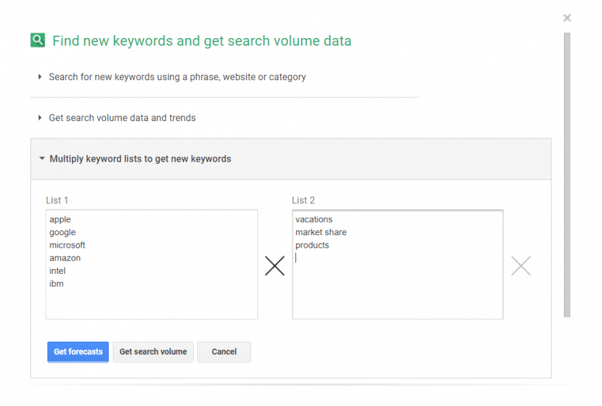 Google keyword tool alternative