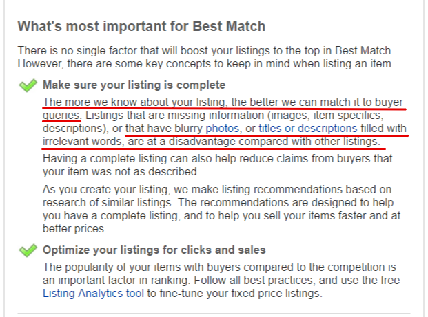 Using keyword research tool for ebay
